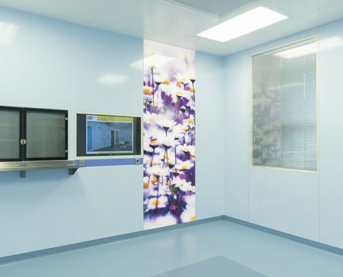Printed All-Glass Partition + OR cabinet 1